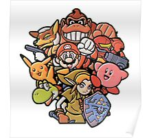 Super Smash Bros 64 Japan Characters Poster