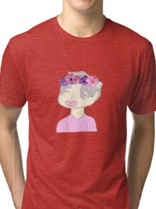 Victor Nikiforov Flower Crown Tri-blend T-Shirt