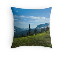 Highline Trail, Glacier NP Throw Pillow