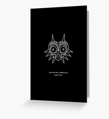 majoras mask   minimal poster BLACK Greeting Card