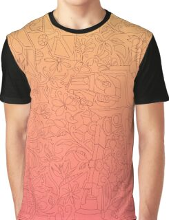 Bloomin' Empire - Peach & Pink Graphic T-Shirt