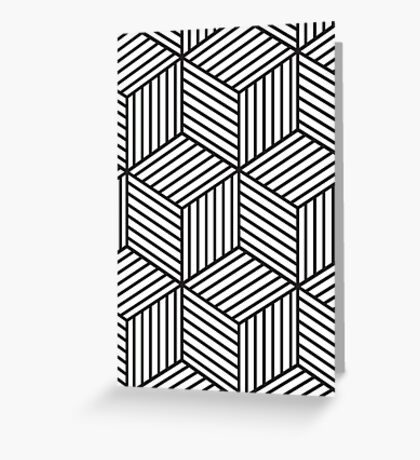Abstract line work Greeting Card