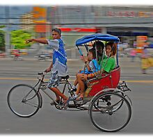 Rickshaw in Bangkok by dgwooster