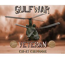 CH-47 Chinook Gulf War Veteran Photographic Print