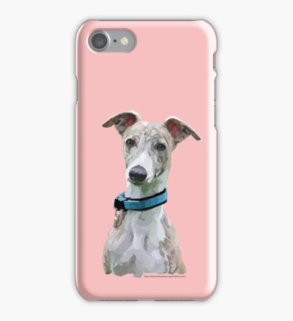 Low Poly Art - Whippet iPhone Case/Skin
