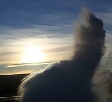 Geysir Erupts by Stuart Goddard