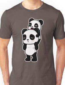 Piggy Back Pandas Unisex T-Shirt