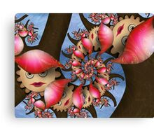 Inner Child - Pale Flower Girls With Hats Canvas Print