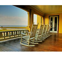 Pull up a chair and stay awhile Photographic Print