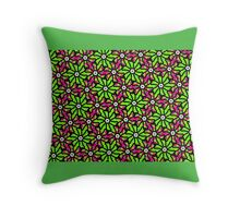 GREEN and PINK TROPICAL FLORAL DESIGN Throw Pillow