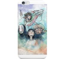 Spirited Away Miyazaki Tribute Watercolor Painting iPhone Case/Skin
