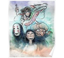 Spirited Away Miyazaki Tribute Watercolor Painting Poster