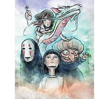 Spirited Away Miyazaki Tribute Watercolor Painting Photographic Print