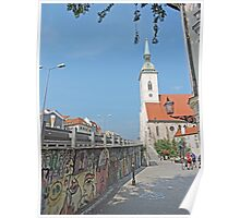 Graffiti and St Martins Cathedral Poster