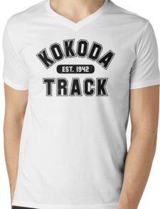 Kokoda Track Est 1942 Black Vintage Mens V-Neck T-Shirt
