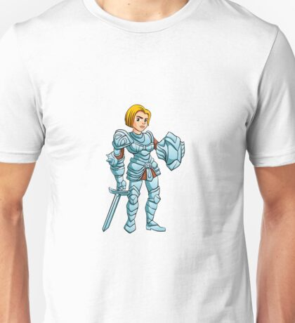 Warrior Princess With Battle sword and Shield Unisex T-Shirt