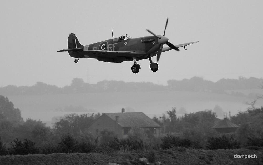 spitfire on approach by dompech