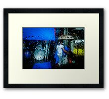 Person & umbrella Framed Print