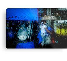 Person & umbrella Metal Print