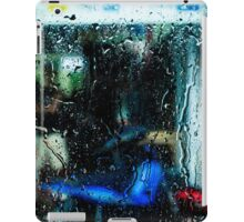 Red box blue motorcycle iPad Case/Skin