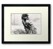 Emu Mug Framed Print