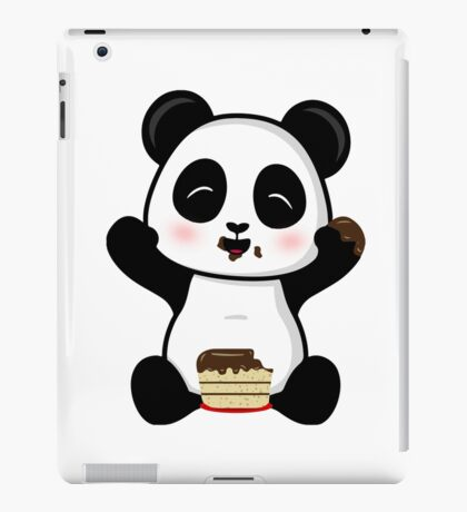 Cake Eating Panda iPad Case/Skin