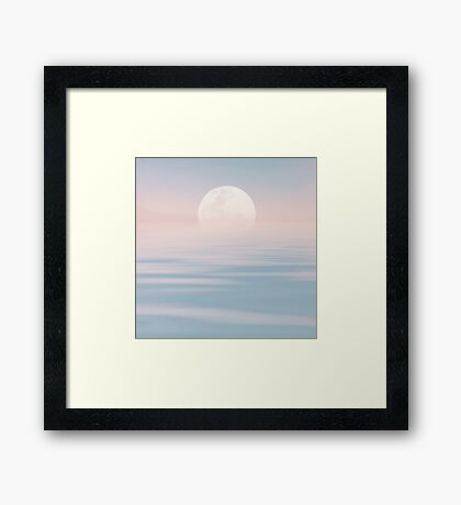 Full Moon over Calm Waters Framed Print