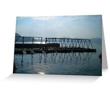 water reflection  Greeting Card