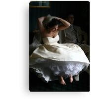 Barefoot Bride Canvas Print