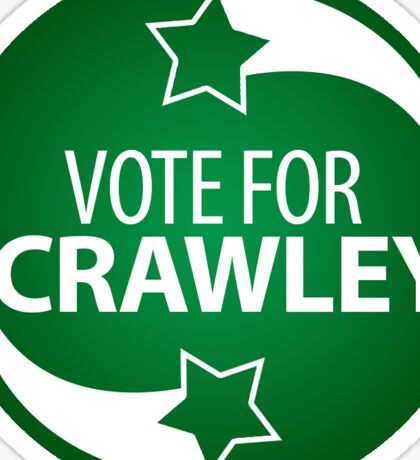 VOTE FOR CRAWLEY -- green gradient Sticker