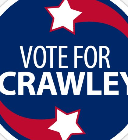 VOTE FOR CRAWLEY -- Red-White-and-Blue Sticker