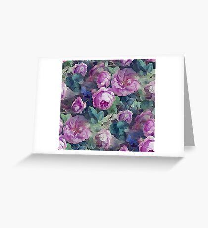 Floral pink roses pattern Greeting Card