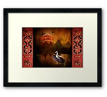 On a slow boat to China Framed Print