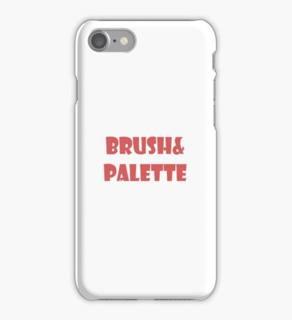brush&palette iPhone Case/Skin