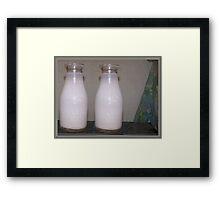 Old Milk Bottles Framed Print