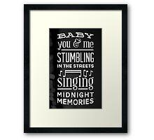 Midnight Memories Framed Print