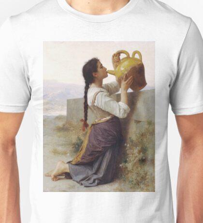 Adolphe William Bouguereau - La Soif Unisex T-Shirt
