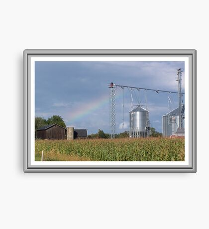 Rainbow O`er the Farmland Canvas Print