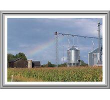 Rainbow O`er the Farmland Photographic Print