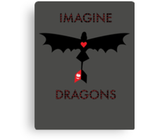 Imagine Toothless Canvas Print