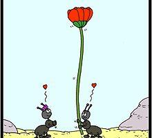 Ant offering a flower by Hagen