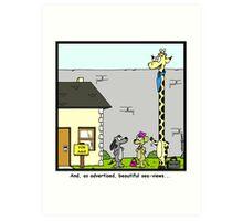 Real Estate for Giraffes Art Print