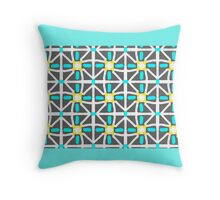 AQUAMARINE GEOMETRIC PATTERNS Throw Pillow