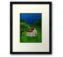 """Hold on Kitty"" Framed Print"