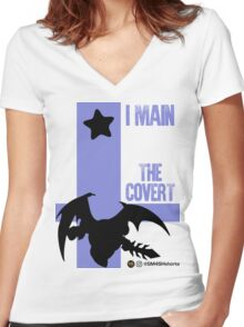 The Covert (Black) Women's Fitted V-Neck T-Shirt
