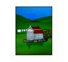 Marmalade Cottage Art Print