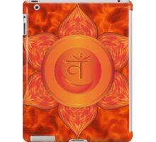 Sacral Chakra with orange flare BG iPad Case/Skin