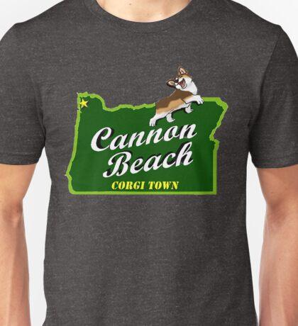 Cannon Beach - Corgi Town Unisex T-Shirt