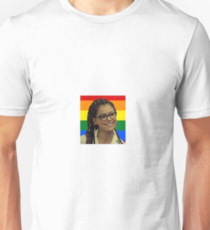 Cosima with pride flag Unisex T-Shirt