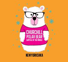 Churchill Polar Bear Pink Unisex T-Shirt